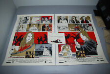 New Flesh Kill Bill 1 2 Poster Set Screen Print Signed of 50 movie 1 Ne stout