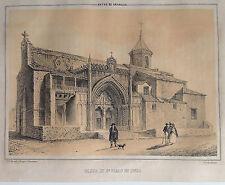 JAÉN, UBEDA IGLESIA DE S. PABLO.Parcerisa 1839-1865