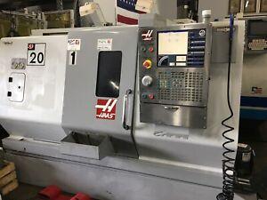 HAAS SL20T CNC TURNING CENTER LATHE SERVO BAR 300 BAR LOADER #5514