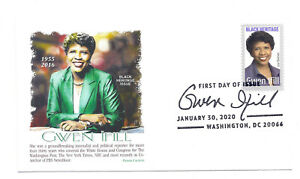 5432 Gwen Ifill Black Heritage 2020, Panda Cachets, pictorial cancel FDC
