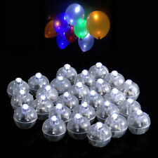 50 Led Ball Lamps Balloon Light for Paper Lantern Wedding Party Decoration Clear