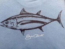 Original Jack Oneill Collection Men's Front Pocket TUNA Fish Rare Blue T-shirt S