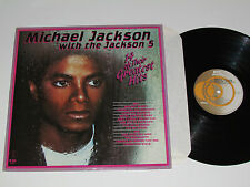 MICHAEL JACKSON WITH THE JACKSON 5 14 Greatest Hits LP K-Tel Canada WITH POSTER!