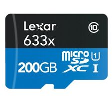 Lexar 200GB Micro SD SDHC SDXC Memory Card Class 10 TF 95MB/s 633X New For Phone