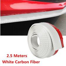 White Carbon Fiber Car Front Bumper Lip Splitter Rubber Chin Spoiler Protector