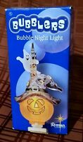 Roman Lights Bubblers Bubble Night Light! Pumpkin Witch w/ Ghost Halloween NEW!
