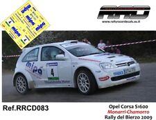 DECAL/CALCA 1/43; Opel Corsa S1600; Monarri-Chamorro; Rally del Bierzo 2009