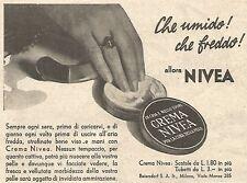 W4896 Crema NIVEA - Che umido! Che Freddo!... - Pubblicità del 1934 - Vintage ad