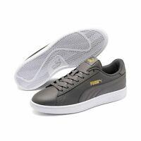 Puma Smash v2 L Unisex Erwachsenen Sneaker Retro Turnschuhe 365215 Grau