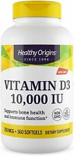 Vitamin D3 360 Softgels 10000 IU by Healthy Origins