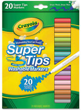 CRAYOLA - Washable Markers Super Tip - 20 Markers