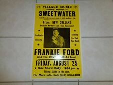 Frankie Ford 1989 Concert Poster Mill Valley Ca August 25