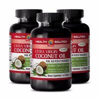 Fatty acid complex-PURE COCONUT OIL EXTRA VIRGIN 3000mg- Kidney support pills-3B