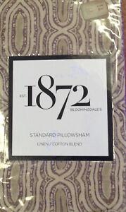 New Bloomingdale's 1872 Harlow Linen/Cotton Blend Standard Pillowsham