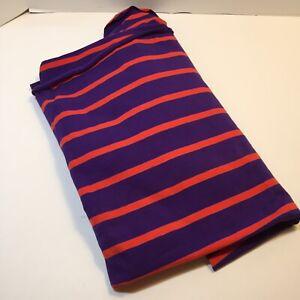 "26"" Purple Orange Striped Knit Fabric 60"" wide Cotton Blend"