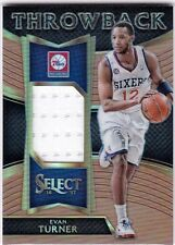 Evan Turner 2016-17 Panini Select Sammelkarte,Throwback Materials,Copper,17/49