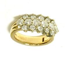 Ladies 14k Yellow Gold Superfit Arthritic 1 Cttw Diamond Cluster Estate Ring