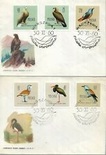 Poland 1960 Birds Set On Four First Day Covers My Ref 3908