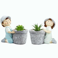 """2 Pack of 3"""" Succulent Cactus Planter Container Set Boy and Girl Flower Pots New"""