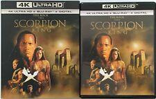 THE SCORPION KING 4K ULTRA HD BLU RAY 2 DISC SET + RARE OOP SLIPCOVER SLEEVE BUY