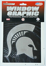 Michigan State Trojans Window Graphic - Silver Chrome Vinyl Decal 4x5