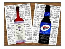 Wine or Beer Milestone Birthday Invitation 30th 40th 50th Any Colors or Age