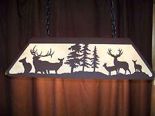 Laser cut Steel Elk and Mule Deer Pool Table Light Lamp hunt cabin COPPER