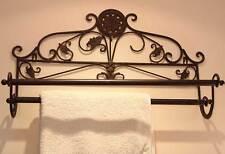 Porte Serviettes Decoration Salle De Bains Retro Vintage Shabby Chic Marron