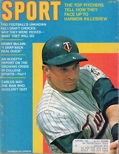 1970 JUNE Sport Magazine baseball Harmon Killebrew Minnesota Twins GOOD