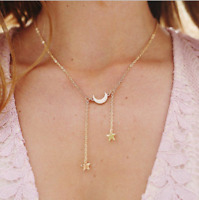 Boho Fashion Moon Star Choker Necklace for Women Simply Design Pendants Jewelry