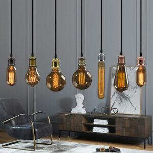 Lampen Fassung mit kabel E27 Lampensockel Metall Nostalgie Retro Leuchtmittel DE