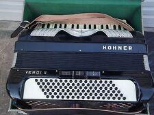 Piano Accordian Hohnor Verdi 11 Art Deco Design & Case