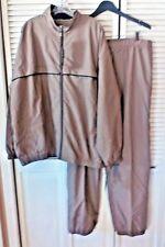 Weatherproof Performance Track Suit Pants Jacket XXL Polyester Light Brown MC51