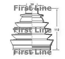 Unten, Antriebswelle First Line FCB2321