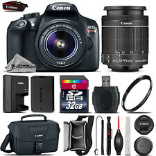 Canon EOS Rebel T6 1300D Camera + 18-55mm IS Lens + Canon Case + UV - 32GB Kit