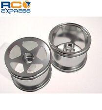 GPM Racing Losi Mini-T Aluminum Silver Front 5 Star Spoke Wheels (2) SMT0503F/L