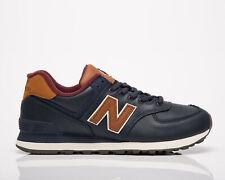 New Balance 574 Masculino Azul Marinho Marrom baixa Athletic estilo de vida Casual Calçados Tênis Nb