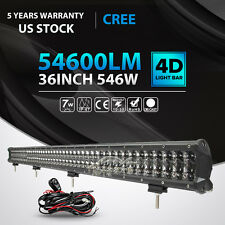 """4D+ 36INCH 546W LED LIGHT BAR COMBO OFFROAD 4WD JEEP FORD TRUCK SUV ATV 37""""42"""""""