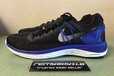 Nike Lunareclipse 5 Black White Lyon Blue Mens Sz 10.5 Flyknit Racer 2 3 4 5 NEW