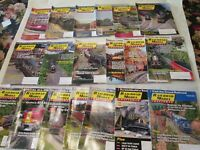 Lot of 19 Issues Railroad Modeler Trains Magazine Full Year 20015 2016 Craftsman