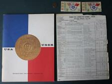 1959 USA Vs.USSR 3rd Pan-Am Games Program-scoresheet & 2 ticket set-Olympians!
