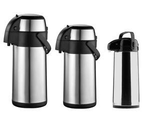 Edelstahl Pumpkanne 1,8L 3L 5L Isolierkanne Thermosskanne Kaffeekanne Teekanne