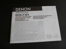 Original Bedienungsanleitung Denon DCD-F101