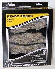 HO OO Woodland Scenics Shelf Ready Rocks Hand Painted C1136 FNQHobbys