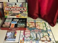 MONOPOLY CITY Edition Family Board Game 80 3D Buildings re sealed contents