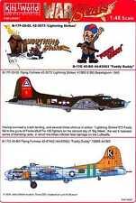 Kits World Decals 1/48 B-17 FLYING FORTRESS Lightning Strike & Fuddy Duddy