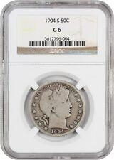 1904-S 50c NGC Good-06 - Rare Date - Key to the Set - Barber Half Dollar