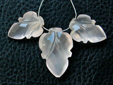 Natural Pink Rose Quartz Carved Fancy Briolette Semi Precious Gemstone Beads 012