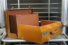 Magnificent Vintage Concertina Style Executive Bridle Leather Briefcase Attache