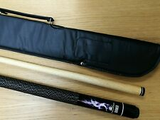 Powerglide Pool Cue Burner 2 Piece Center Joint 10 mm Tip + Soft Case